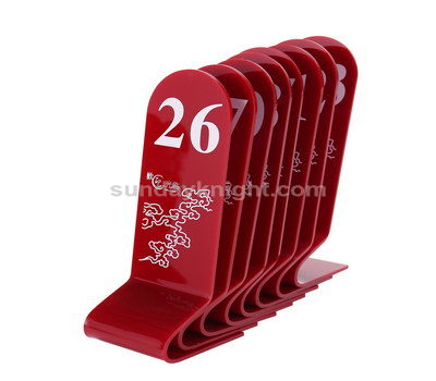 Unique table numbers 1