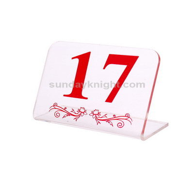 Lucite table numbers