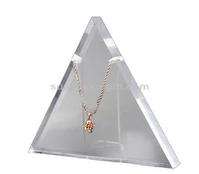 Triangle acrylic necklace stand