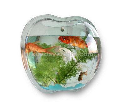 Wall mounted apple shaped fish tank