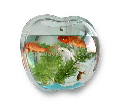 Wall mounted apple shaped fish tank