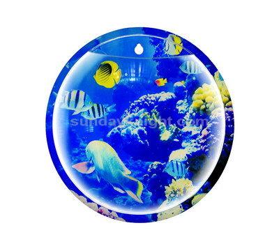 Wall mounted fish tank