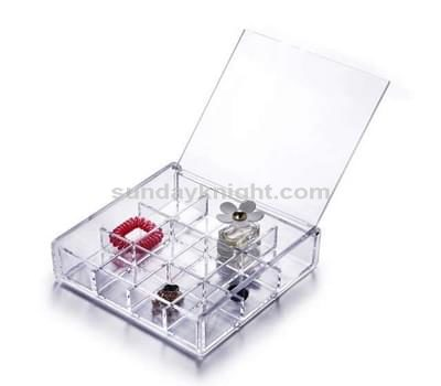 Clear acrylic hinged box