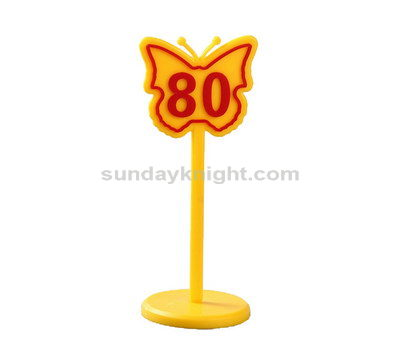 Butterfly shaped acrylic table number