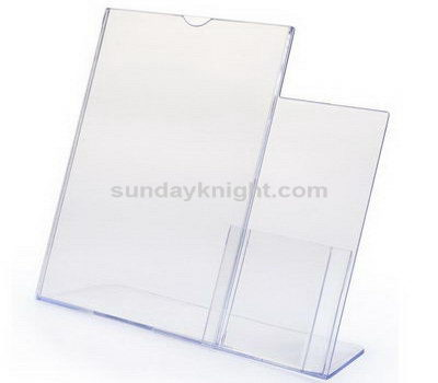 Acrylic menu stand with name card holder