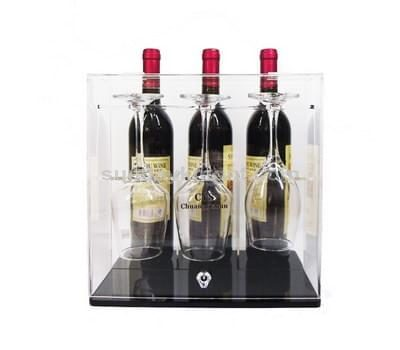 Acrylic wine glass display box