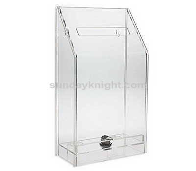 Lockable donation box