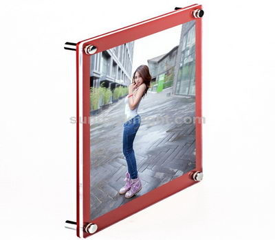 Wall mounted acrylic poster frame