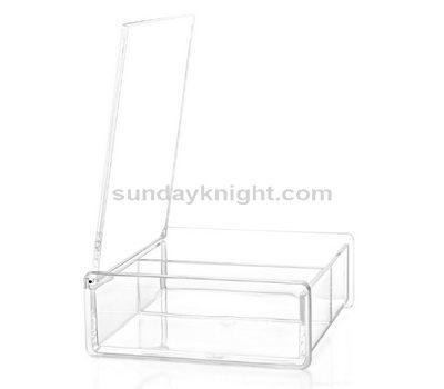 Hinged clear box