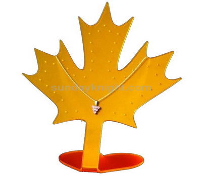 Maple leaf shaped necklace display stand
