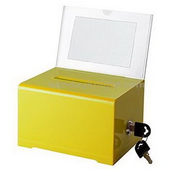 Acrylic ballot box with sign holder