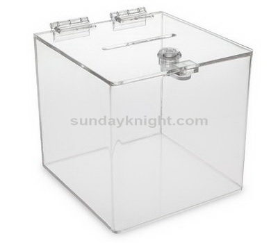 Clear acrylic suggestion box