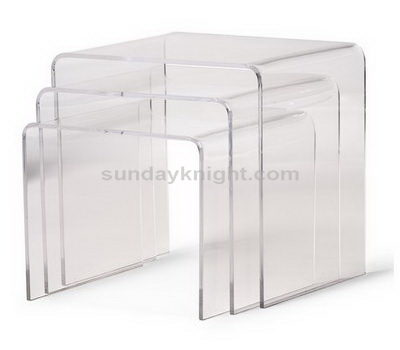 Clear nesting end tables