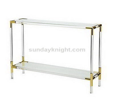 Lucite bedside table