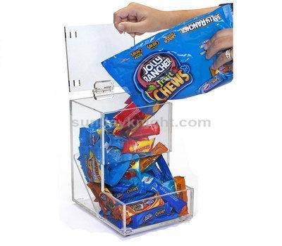 Clear candy dispenser