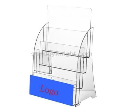 Clear plastic pamphlet holder