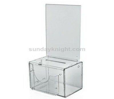 Clear acrylic ballot box