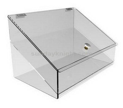 Clear acrylic container with lid