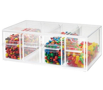 Acrylic storage container with drawers