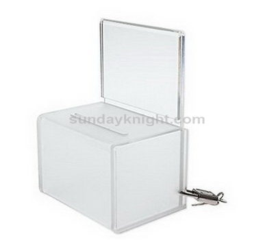 clear acrylic donation box