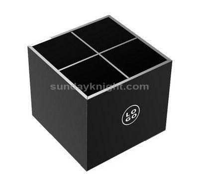 Black acrylic compartment storage box