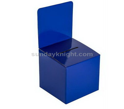 Blue ballot box