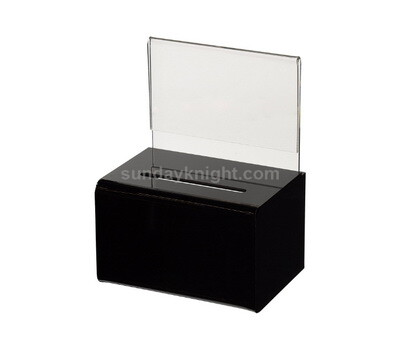 Plexiglass ballot box