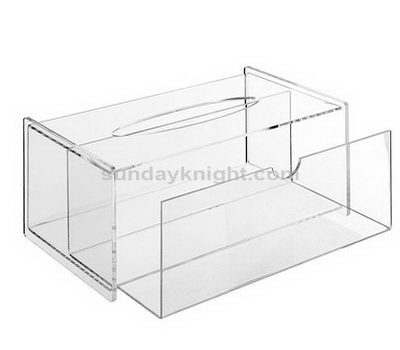 Clear tissue holder with drawer