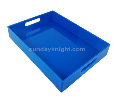 Blue acrylic tray