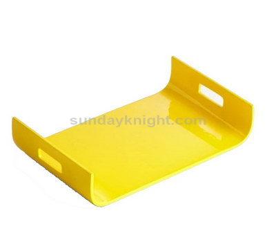 Yellow acrylic tray