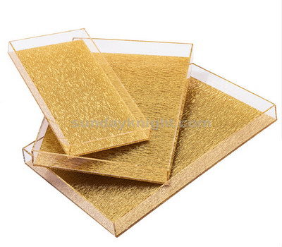 Gold and clear acrylic tray