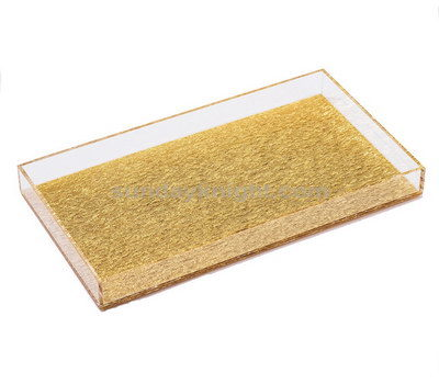 SKAT-017 Gold and clear acrylic tray