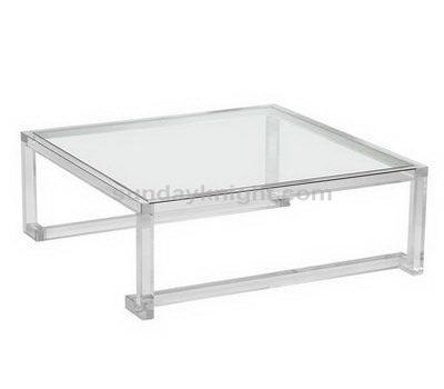 Clear acrylic side table