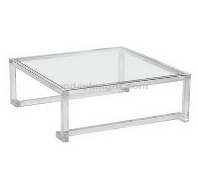Clear acrylic side table