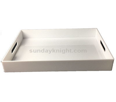 white lucite tray