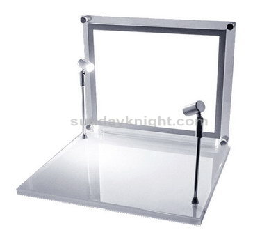 Acrylic cosmetic display with light