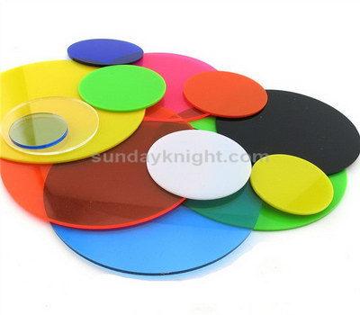 Perspex discs cut to size