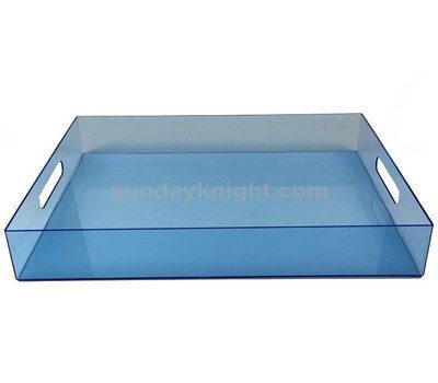 Translucent colored acrylic tray