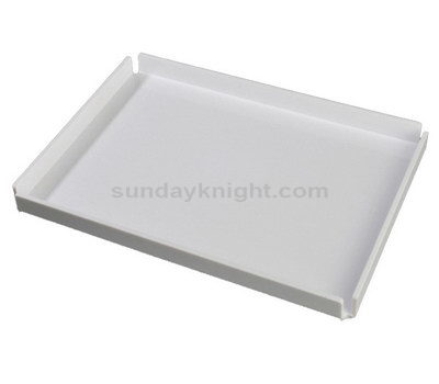White acrylic tray