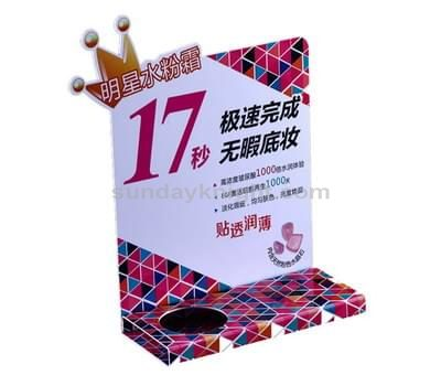 Acrylic skin care display stands