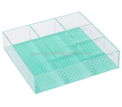 Acrylic tray with dividers