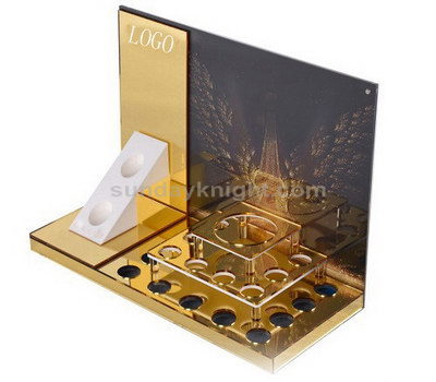 Gold mirror acrylic display stands