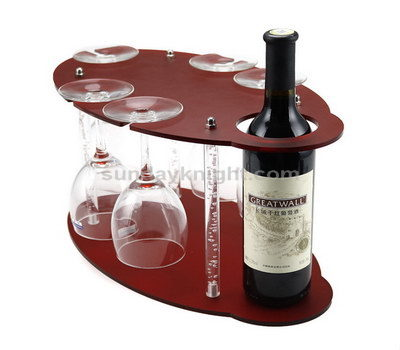 Single bottle wine display