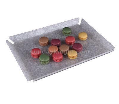 Decorative lucite trays