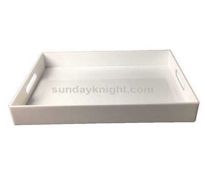 White plastic tray