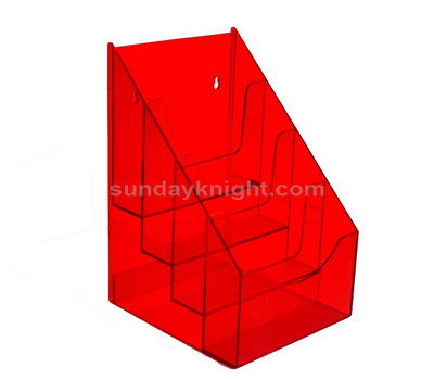 SKBH-115-1 Red acrylic brochure holder