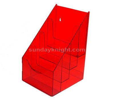 Red acrylic brochure holder