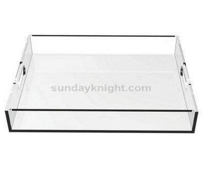 Transparent plastic tray