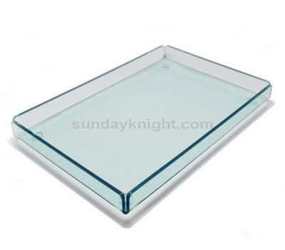 Clear plastic serving trays