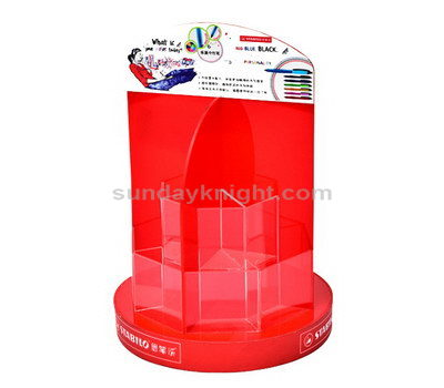Red acrylic brochure holders